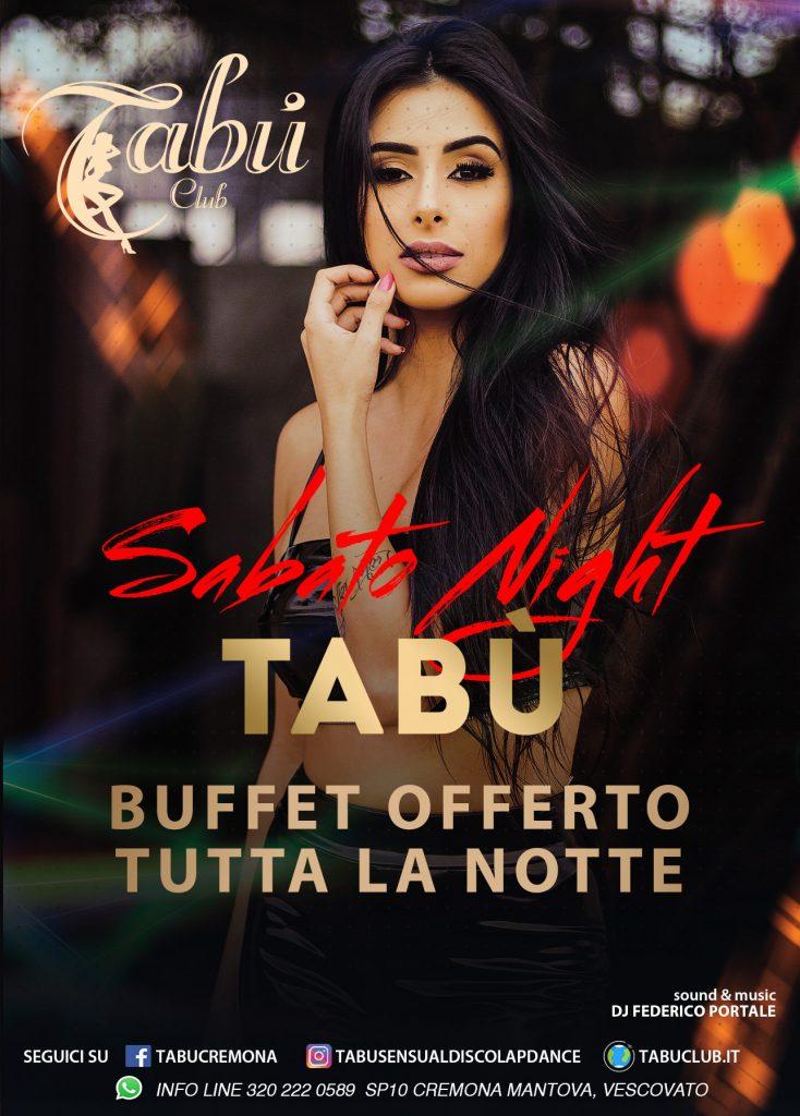 promozione sabato tabu