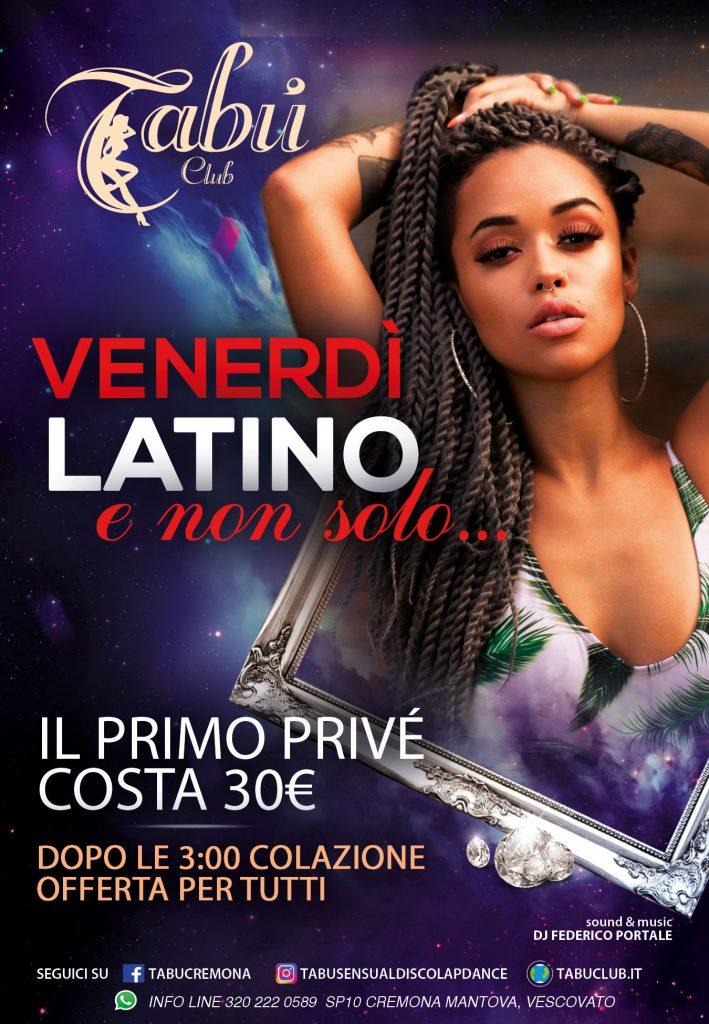 promozione venerdi latino tabu